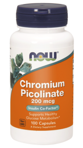 NOW Foods Pikolinian Chromu 200 mcg (250 kap)