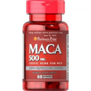 Puritan's Pride Maca  - ekstrakt 500 mg - ( 60 kap)(data do 08.2019r)