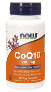 NOW Foods CoQ10 200 mg – Koenzym Q10 (60 kap)