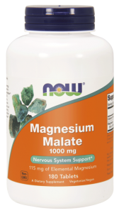 NOW Foods Magnesium Malate (Jabłczan Magnezu)1000 mg (180 kap)