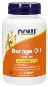 NOW Foods Borage Oil – Olej z ogórecznika 1000 mg (60 kap)