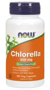 NOW Foods Chlorella 400 mg (100 kap)