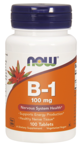 NOW Foods B-1 (tiamina )100 mg (100 tab)