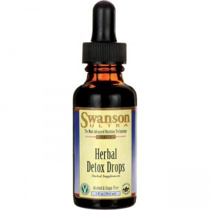 Swanson Herbal Detox Drops 29,6ml ( data do 31,09,2020r)