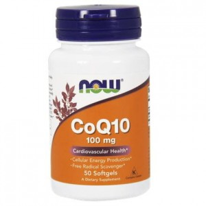 NOW Foods  Koenzym Q10  100 mg +witamina E   (50 kap)