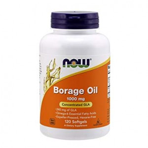 NOW Foods Borage Oil – Olej z ogórecznika 1000 mg (120 kap)