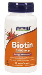 NOW Foods Biotyna 5 / 2,5 mg (60 kap)