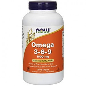 NOW Foods Omega 3-6-9, 1000 mg (250 kap)