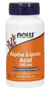 NOW Foods alpha  alfa kwas ala 250 mg( 60 kap)