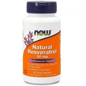 NOW Foods Resveratrol 50 mg resweratrol (60 kap)