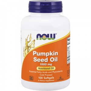NOW Foods Pumpkin seed oil 1000 mg (100 kap żel)