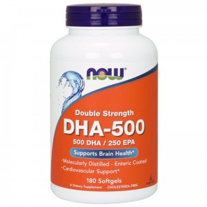 NOW Foods DHA 500  (180 kap)