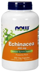 NOW Foods Echinacea – Jeżówka purpurowa 400 mg (250  kap)
