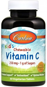 Carlson Labs Kid's Chewable Witamina C 250 mg (60 tab)
