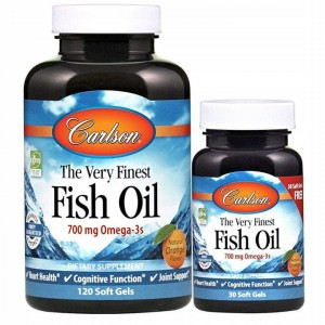 Carlson Labs The Very Finest Fish Oil  700mg Omega-3 (120 + 30 kap)