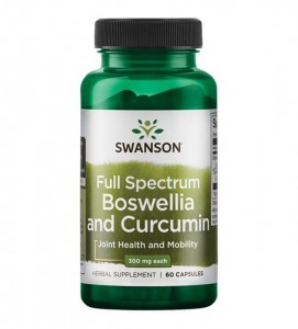 Swanson Full Spectrum Boswellia & Curcumin - (60 kap)( data do 31,06,2021r)