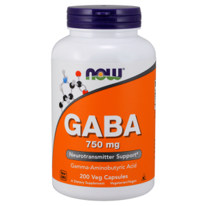 NOW Foods GABA 750mg (250 kap)