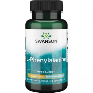 Swanson AjiPure L-fenyloalanina 500mg - (60 kap)(data do 31,04,2021r)