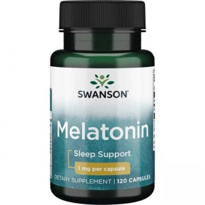 Swanson Melatonina - 1000mcg (1mg) - (120 kap)
