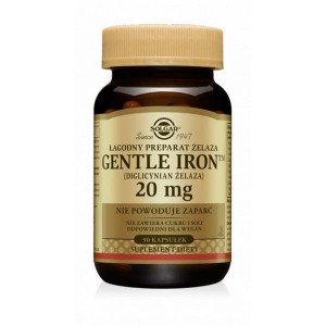 Solgar  Gentle Iron Żelazo 20 mg (90 kap)
