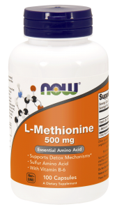 Now Foods L-Methionine 500 mg – Egzogenny aminokwas  (100 kap)