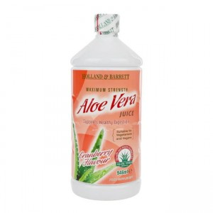 Holland & Barrett Aloe Vera Juice Drink Sok z aloesu  Smak żurawinowy  (946ml)