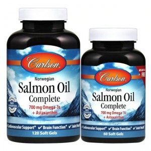 Carlson Labs Norwegian Salmon Oil Complete - (120 + 60 kap)