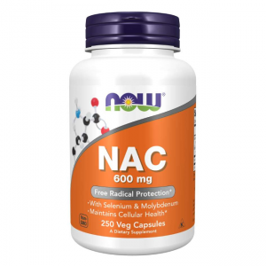 NOW Foods NAC -  N-Acetylocysteina 600 mg  (250 kap)