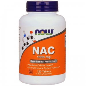 NOW Foods NAC - N-Acetylocysteina 1000 mg   (120 tab)