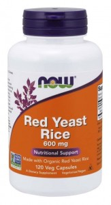 Now Foods Red Yeast Rice 600 mg – Czerwony Ryż  (120 kap)