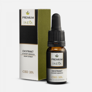 INDIA Olejek konopny z CBD ekstrakt 30 % (10 ml)