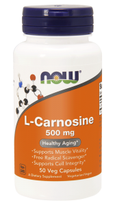 Now Foods  L-Carnosine (karnozyna) 500 mg  (50 kap)