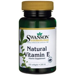 Swanson Witamina E Naturalna 200IU - (100 kap)(data do konca 04,2020r)
