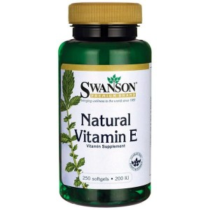 Swanson Witamina E Naturalna 200IU - (250 kap)( data do 31,04,2020r)