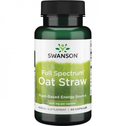 Swanson Full Spectrum Oat Straw 400mg - (60 kap).jpg